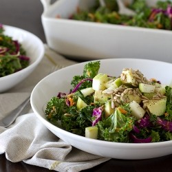 Kale Red Cabbage Carrot Salad Recipe