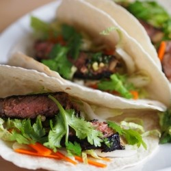 Korean Steak Tacos with Guacamole