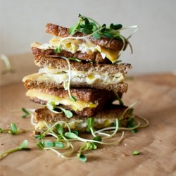 Leek Goat Cheese Grilled Cheese Sandwich