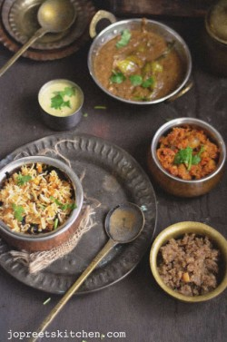 Lentil Biriyani with Curd Chutney Recipe