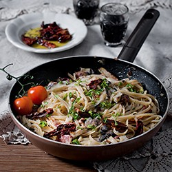 Linguine with Sun-Dried Tomatoes, Olives, and Lemon Recipe