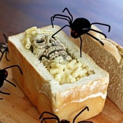 Macaroni Cheese Bake In Coffin Toast