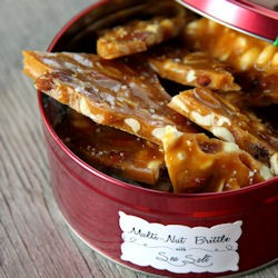 Mixed-Nut Brittle with Sea Salt Recipe