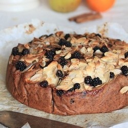 Norwegian Apple Blackberry Almond Cake Recipe