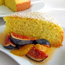 Olive Oil Cake with Figs and Orange