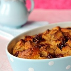 Peanut Butter and Jam Bread Pudding