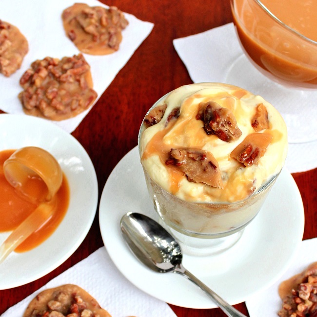 Pecan Praline Caramel Ice Cream Recipe