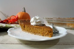 Pumpkin Pie with Whole Wheat Crust Recipe