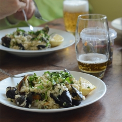 Risotto with Mussels in White Wine Recipe