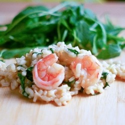 Risotto with Shrimp and Baby Arugula