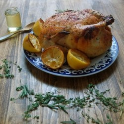 Roast Chicken with Honey lemon Herb Glaze Recipe
