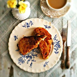 Roasted Apple Brie French Toast Recipe