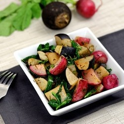 Roasted Black and Red Radishes Recipe