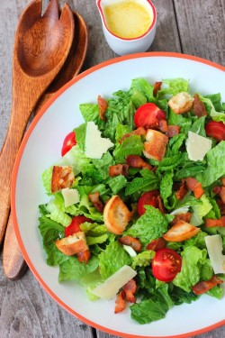 Romaine Herb Salad with Bacon and Cheese Recipe