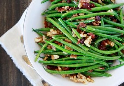 Sauteed Garlic Bacon Green Beans Recipe