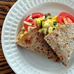 Scrambled Egg Breakfast Quesadilla