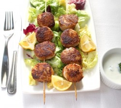 Sea Scallops with Mint Yogurt Sauce Recipe