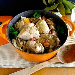 Sherry Braised Chicken and Mushrooms Recipe