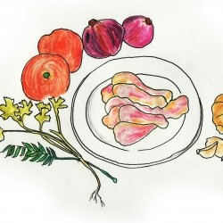Simple yet fun recipes accompanied by watercolour sketches