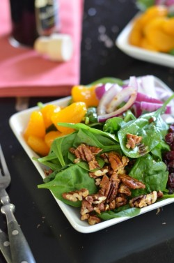 Spinach Salad with Pecans and Cranberries Recipe