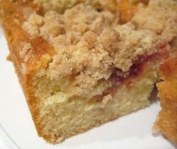 Strawberry Jam Swirled Coffee Cake