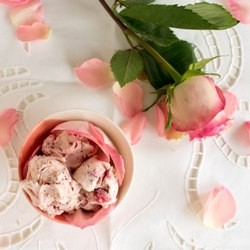 Strawberry Rose Water Ice Cream Recipe