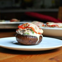 Stuffed Tuna Melt Mushrooms Recipe