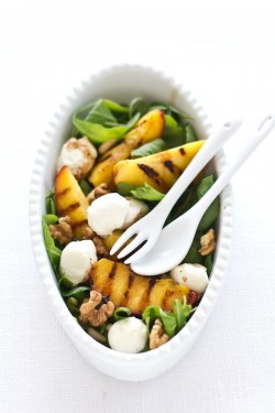 Summer Grilled Peach Salad Recipe