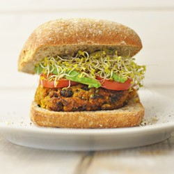 Sweet Potato Black Bean Burger Recipe