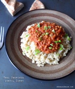Thai Red Curry Lentil Vegetarian Recipe
