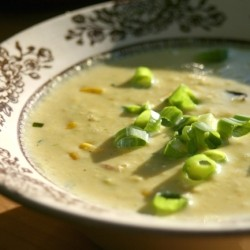 Thyme and Scallion Corn Chowder with Bacon
