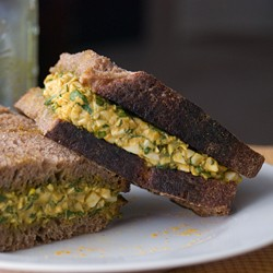 Turmeric Egg Salad with Spinach