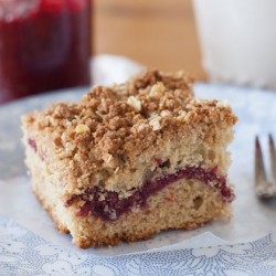 Vanilla Raspberry Chia Jam Coffee Cake Recipe