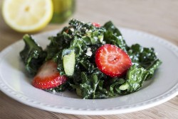 Vegan Strawberry Kale Salad Recipe