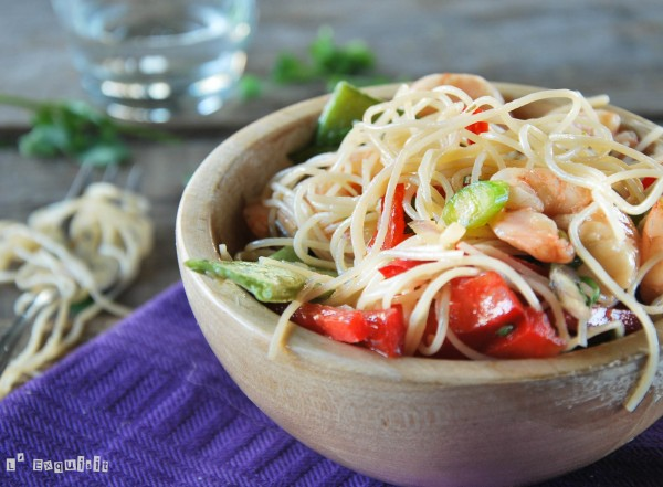 Vermicelli with Prawns and Thai Dressing