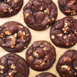 White Chocolate Chunk Chocolate Cookies Recipe
