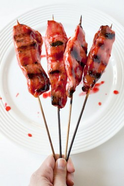 Asian Grilled and Glazed Chicken Skewers Recipe