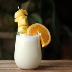 Banana Coconut Pineapple Yogurt Rum Cocktail