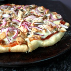 Barbecue Chicken Pizza with Homemade Crust