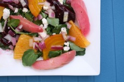 Beet Rhubarb and Orange Salad
