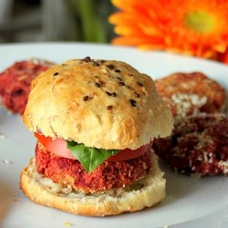 Beets Oats Garbanzo Bean Burgers