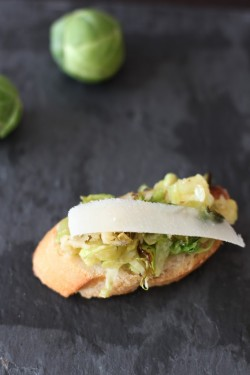 Brussels Sprouts Parmesan Crostini Recipe
