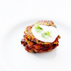 Carrot Pancakes with Herbs and Parmesan Recipe