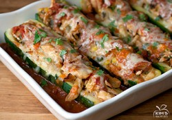 Chicken Enchilada Zucchini Boats Recipe