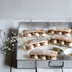 Chocolate and Cream Passion Mousse Mille Feuille Recipe