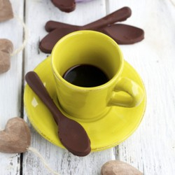 Chocolate and Nutella Coffee Spoons