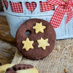 Chocolate Christmas Shortbread Cookies