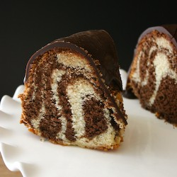 Chocolate Vanilla Zebra Bundt Cake Recipe