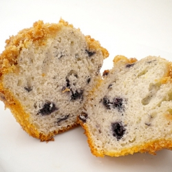 Double Blueberry Crumb Muffins