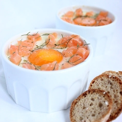 Eggs and Fresh Salmon Cocottes Recipe